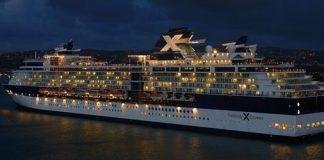 Celebrity Cruise Ship at Night