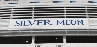 Silversea luxury cruises float out Silver Moon
