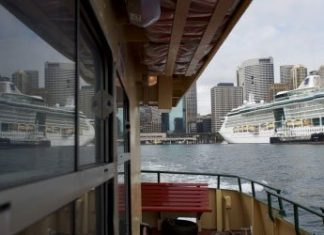 Ovation of the Seas sets sail in Alaska