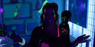 80's glow party