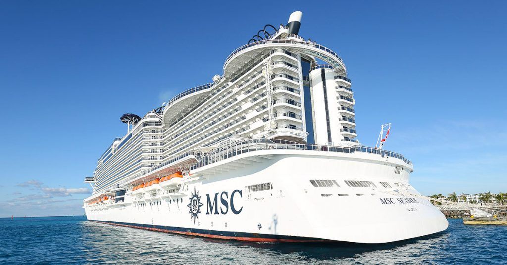 Temporary pause MSC Cruises - MSC Seaside at Sea
