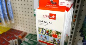 Dollar store shopping for a cruise first-aid