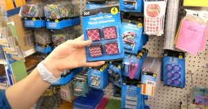 Dollar store shopping for a cruise magnetic clips and hooks