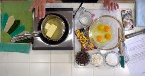 Cruise Kitchen Warm Chocolate Melting Cake Recipe Overhead