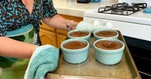Warm Chocolate Melting Cake Recipe hot oven