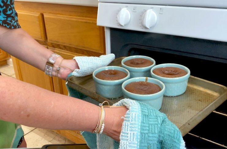 Warm Chocolate Melting Cake Recipe oven