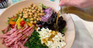 Mediterranean Chopped Salad close up