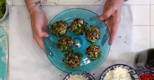 2 Easy Appetizers Goat Cheese Bites Overhead