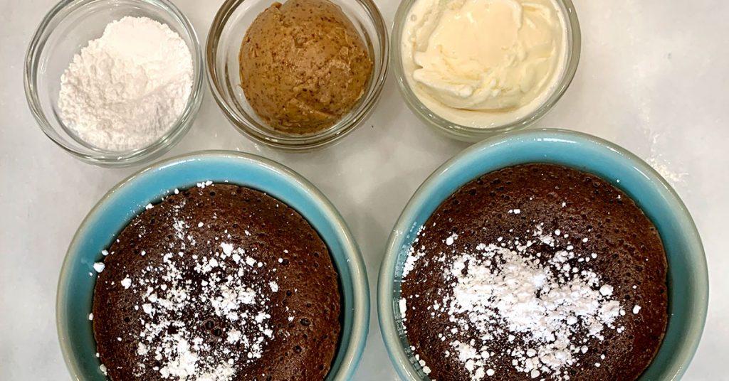 Cruise Kitchen Warm Chocolate Melting Cake sides