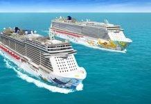 Norwegian cruise line arerials
