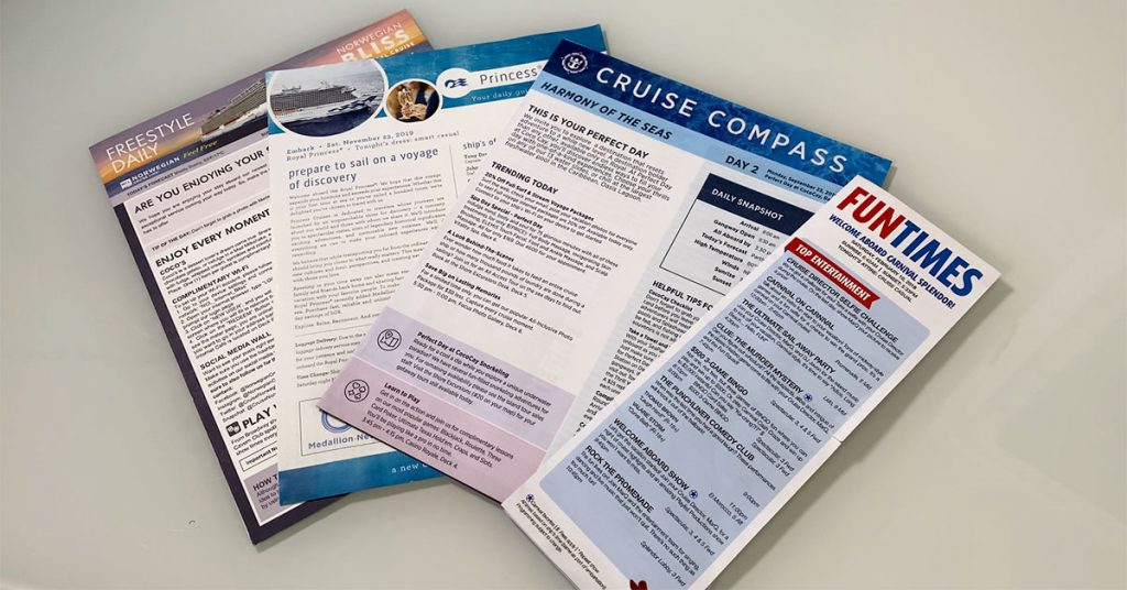 cruise mistakes ship newsletters