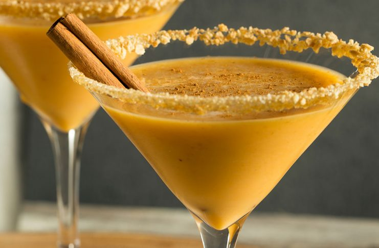 Fall cocktail recipes pumpkin spice martini