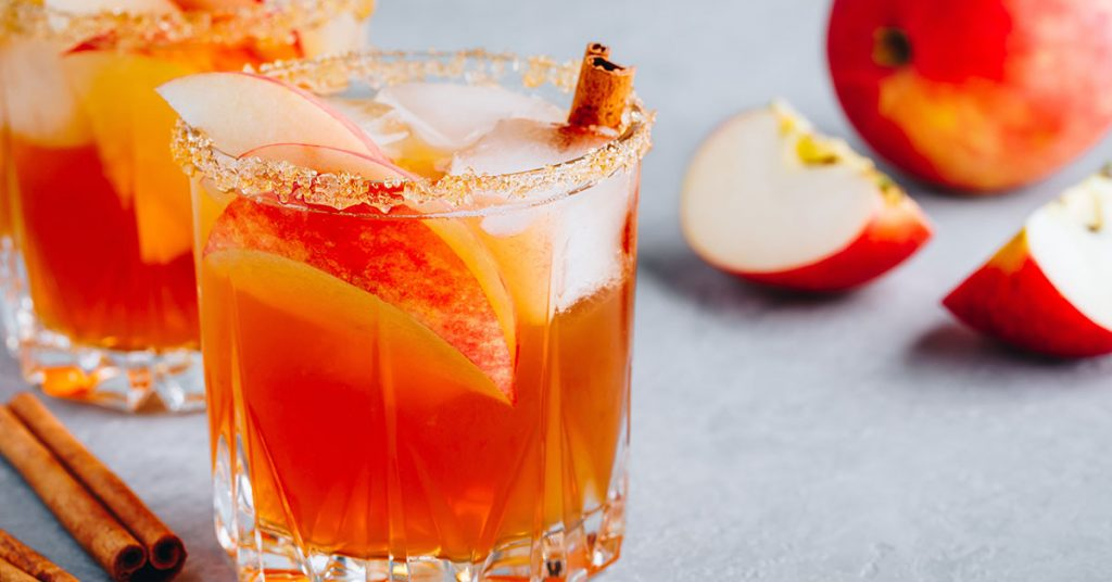 Fall cocktail recipes apple cider margarita