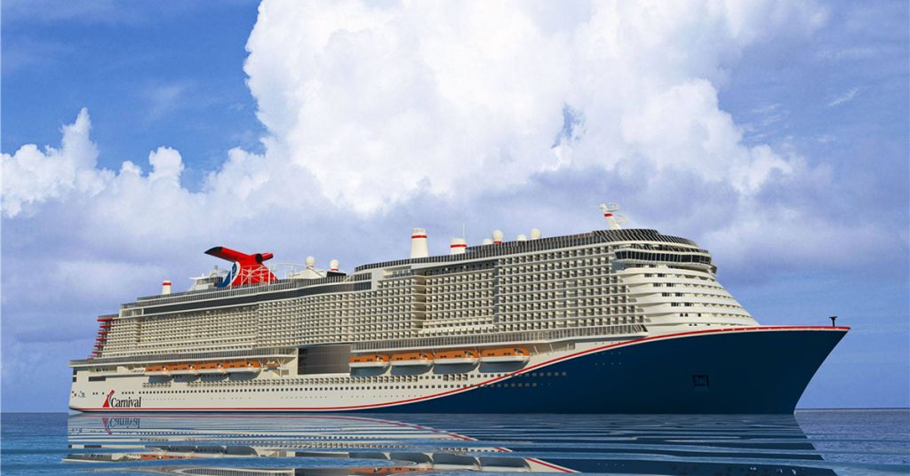 Carnival cruise line Excel rendering