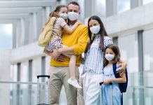 Is cruising safe - family wearing masks