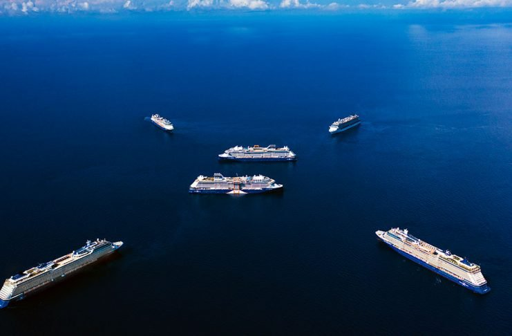 Celebrity Cruises Fleet Aerial