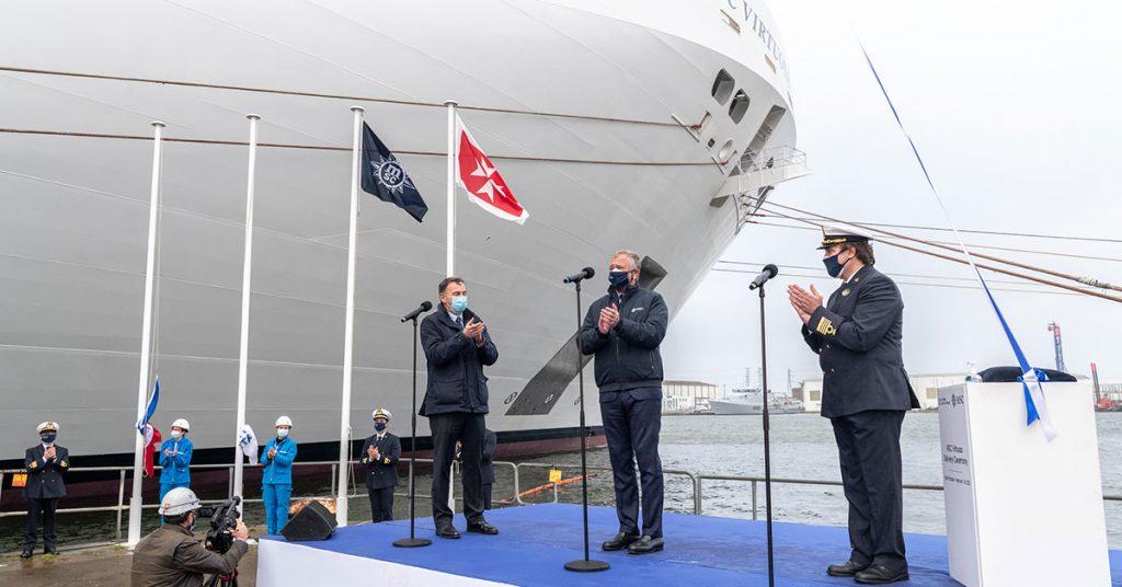 MSC Cruises MSC Virtuosa Delivery flag change Credit Ivan Sarfatti