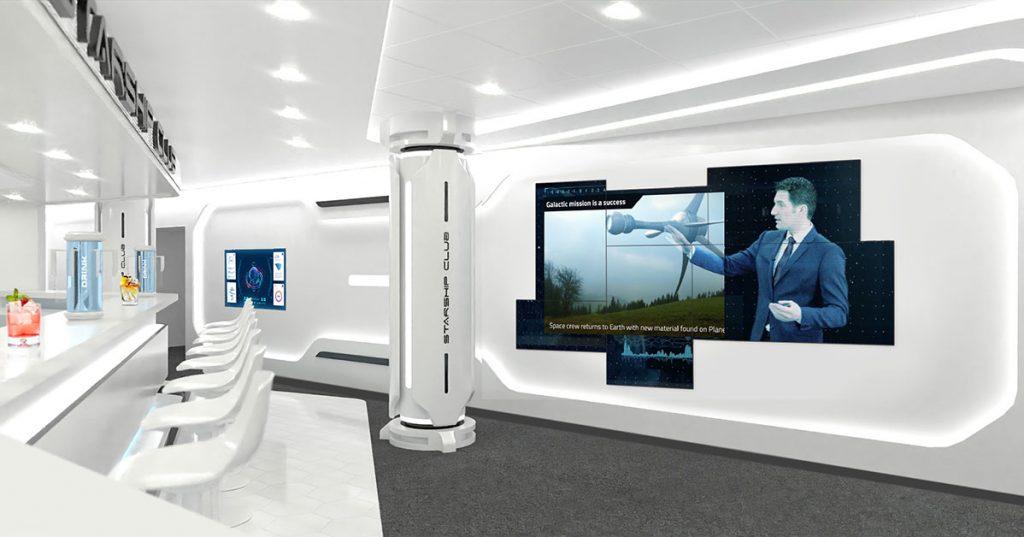 MSC Starship Club immersive digital art wall