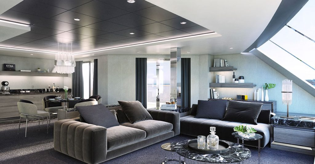 MSC Cruises MSC Yacht Club owner's suite living area