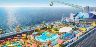 Royal Caribbean Odyssey of the Seas Pool Deck Aerial