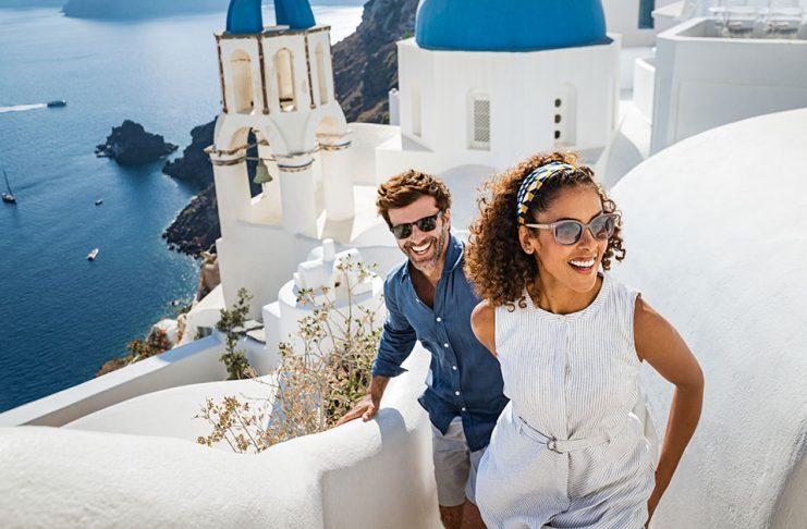 Norwegian Cruise Santorini-blue-domes-stairs