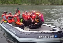 UnCruise Adventures Alaska Guests on skiff ride