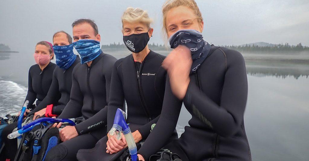 UnCruise Adventures Alaska Guests ready to snorkel