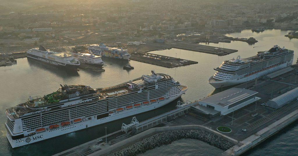 MSC Cruises MSC GRANDIOSA ARRIVES IN CIVITAVECCHIA ITALY