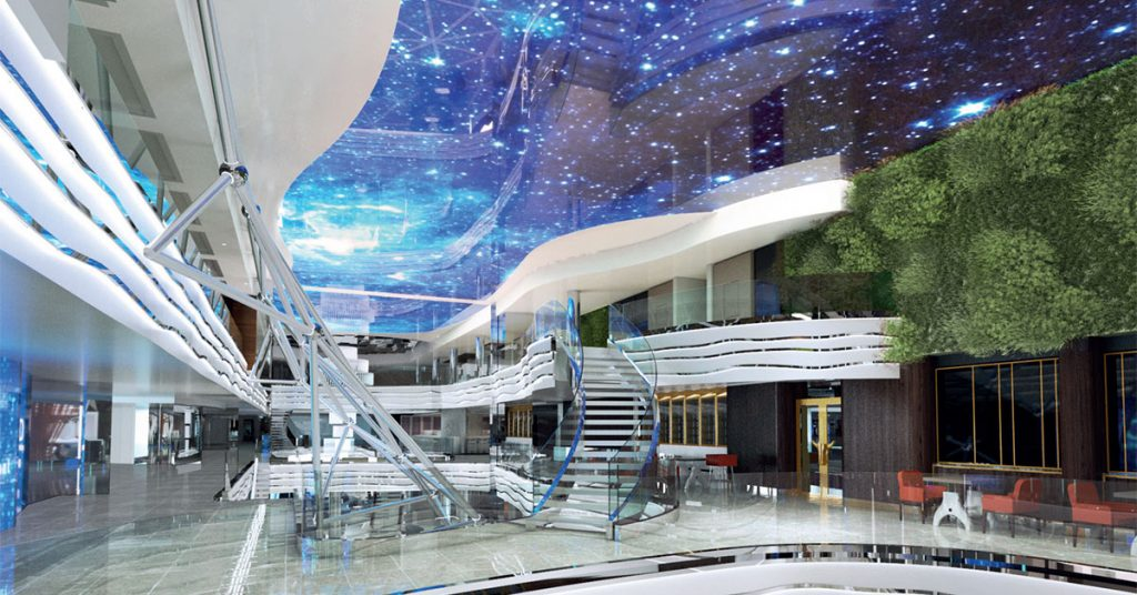 MSC World Europa The-promenade-features-an-imposing-LED-sky-screen