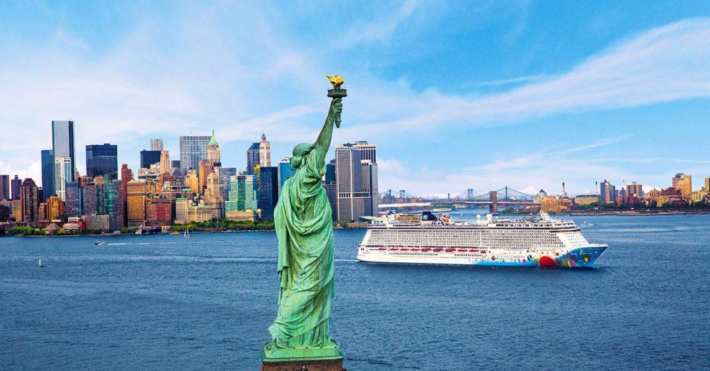 Norwegian Breakaway Statue of Liberty
