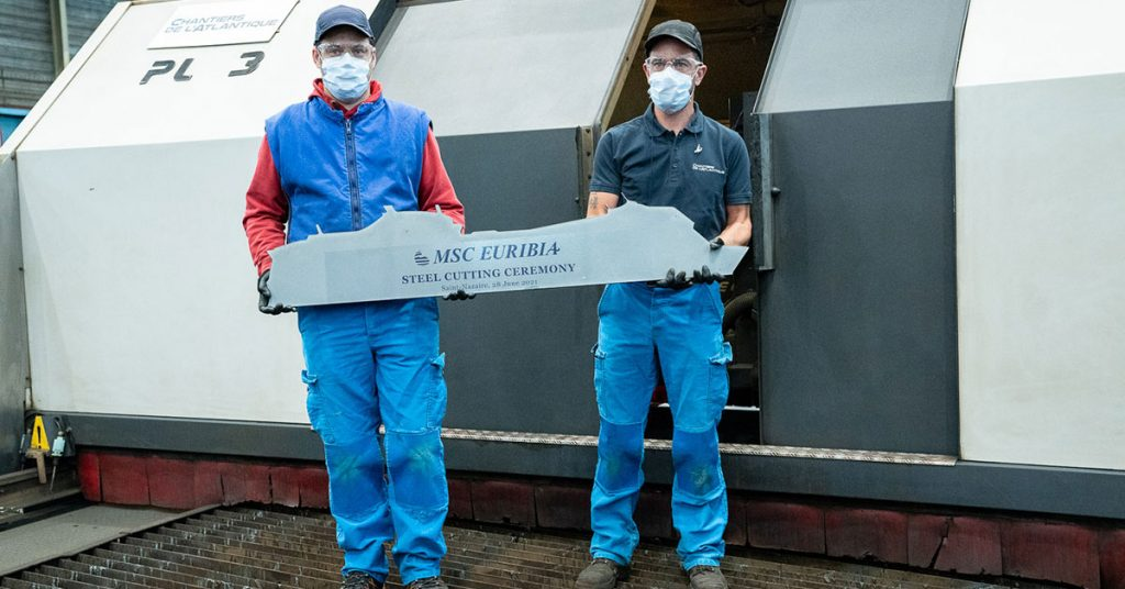 MSC Euribia The-first-steel-cut