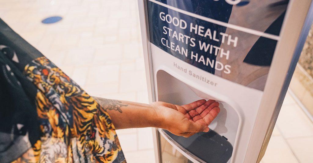 MSC Cruises Hand sanitizer