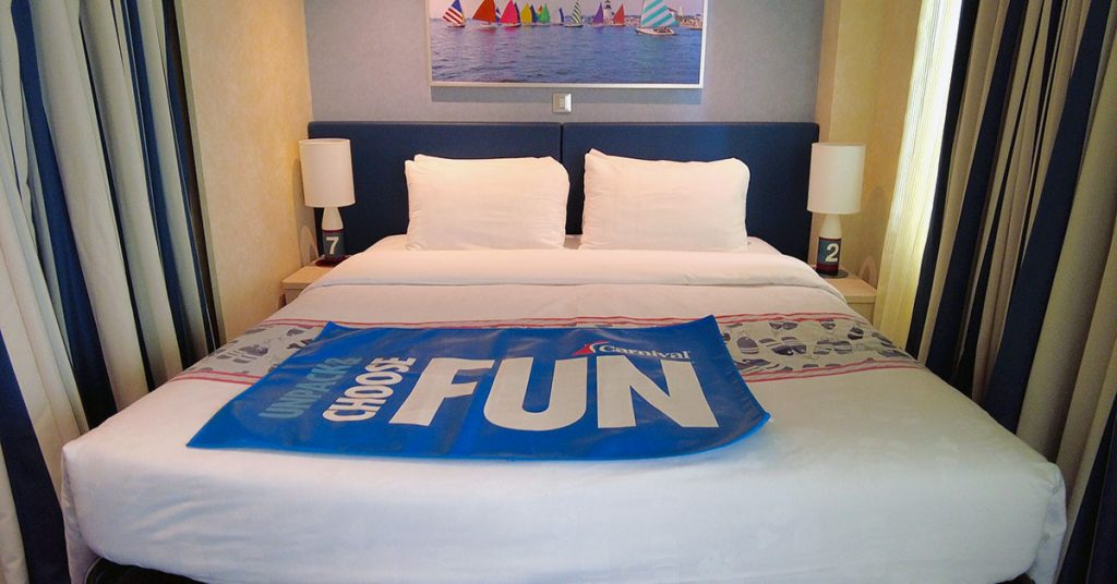 Carnival Panorama Family Harbor Suite Bed