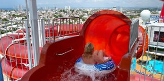 Carnival Panorama Waterworks water slides Red and Blue Fun