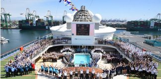 Grand Princess Sails from Port of Los Angeles